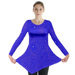 Awesome Allover Stars 01f Long Sleeve Tunic