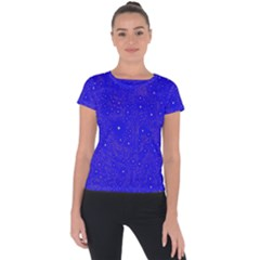 Awesome Allover Stars 01f Short Sleeve Sports Top