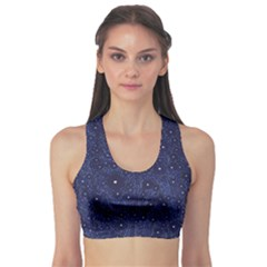 Awesome Allover Stars 01b Sports Bra