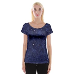 Awesome Allover Stars 01b Cap Sleeve Tops