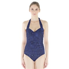 Awesome Allover Stars 01b Halter Swimsuit