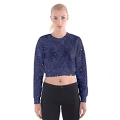 Awesome Allover Stars 01b Cropped Sweatshirt