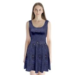 Awesome Allover Stars 01b Split Back Mini Dress