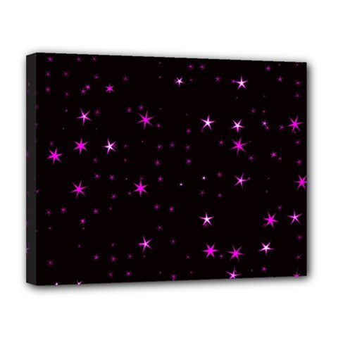 Awesome Allover Stars 02d Canvas 14  x 11