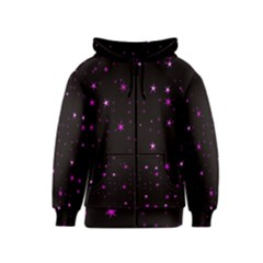 Awesome Allover Stars 02d Kids  Zipper Hoodie