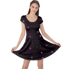 Awesome Allover Stars 02d Cap Sleeve Dresses