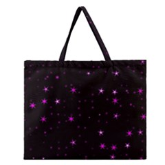 Awesome Allover Stars 02d Zipper Large Tote Bag
