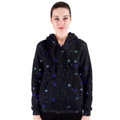 Awesome Allover Stars 02 Women s Zipper Hoodie