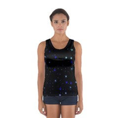 Awesome Allover Stars 02 Women s Sport Tank Top