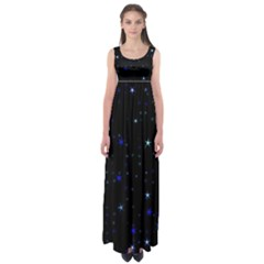 Awesome Allover Stars 02 Empire Waist Maxi Dress