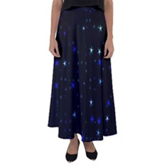 Awesome Allover Stars 02 Flared Maxi Skirt
