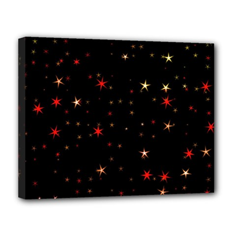 Awesome Allover Stars 02b Canvas 14  x 11
