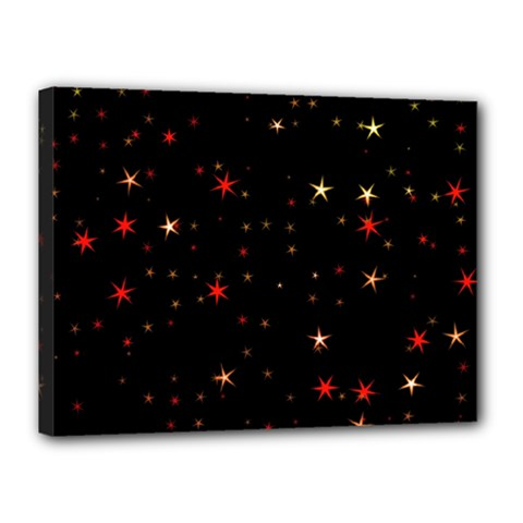 Awesome Allover Stars 02b Canvas 16  x 12