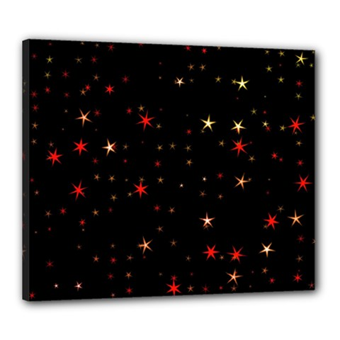 Awesome Allover Stars 02b Canvas 24  x 20