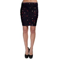 Awesome Allover Stars 02b Bodycon Skirt