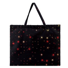 Awesome Allover Stars 02b Zipper Large Tote Bag