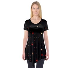Awesome Allover Stars 02b Short Sleeve Tunic