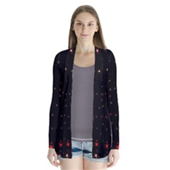Awesome Allover Stars 02b Drape Collar Cardigan