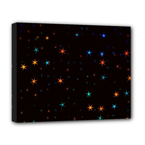 Awesome Allover Stars 02e Deluxe Canvas 20  x 16