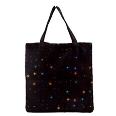 Awesome Allover Stars 02e Grocery Tote Bag