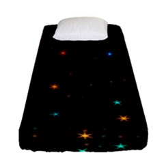 Awesome Allover Stars 02e Fitted Sheet (Single Size)