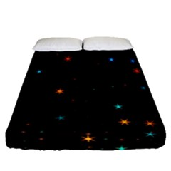 Awesome Allover Stars 02e Fitted Sheet (Queen Size)
