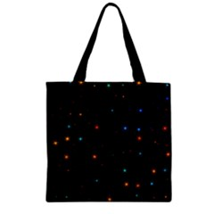 Awesome Allover Stars 02e Zipper Grocery Tote Bag