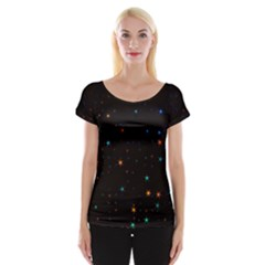 Awesome Allover Stars 02e Cap Sleeve Tops