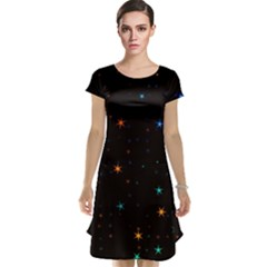 Awesome Allover Stars 02e Cap Sleeve Nightdress