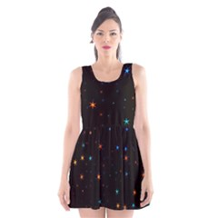 Awesome Allover Stars 02e Scoop Neck Skater Dress