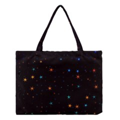 Awesome Allover Stars 02e Medium Tote Bag