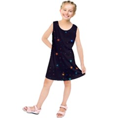 Awesome Allover Stars 02e Kids  Tunic Dress