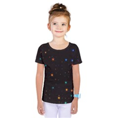 Awesome Allover Stars 02e Kids  One Piece Tee
