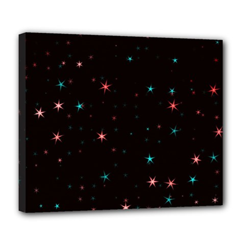 Awesome Allover Stars 02f Deluxe Canvas 24  x 20