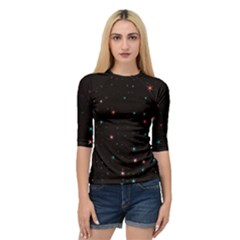 Awesome Allover Stars 02f Quarter Sleeve Tee