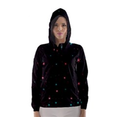 Awesome Allover Stars 02f Hooded Wind Breaker (Women)