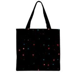 Awesome Allover Stars 02f Zipper Grocery Tote Bag