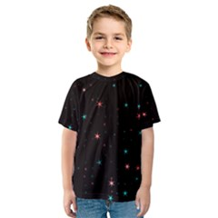 Awesome Allover Stars 02f Kids  Sport Mesh Tee