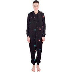 Awesome Allover Stars 02f Hooded Jumpsuit (Ladies)