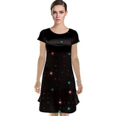 Awesome Allover Stars 02f Cap Sleeve Nightdress