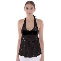 Awesome Allover Stars 02f Babydoll Tankini Top