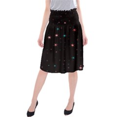 Awesome Allover Stars 02f Midi Beach Skirt