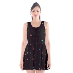 Awesome Allover Stars 02f Scoop Neck Skater Dress