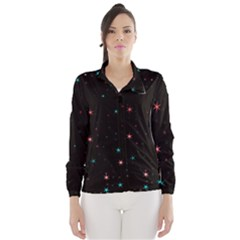 Awesome Allover Stars 02f Wind Breaker (Women)