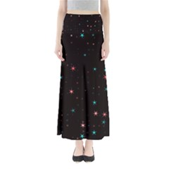 Awesome Allover Stars 02f Full Length Maxi Skirt