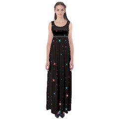 Awesome Allover Stars 02f Empire Waist Maxi Dress