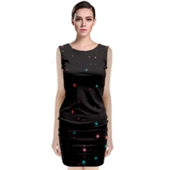 Awesome Allover Stars 02f Classic Sleeveless Midi Dress