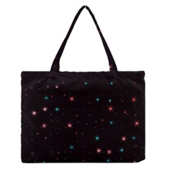 Awesome Allover Stars 02f Medium Zipper Tote Bag