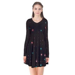 Awesome Allover Stars 02f Flare Dress
