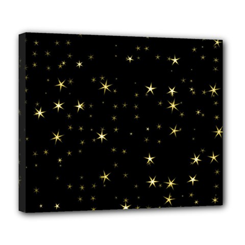 Awesome Allover Stars 02a Deluxe Canvas 24  x 20